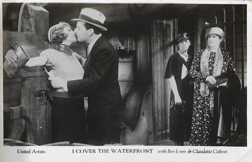 Claudette Colbert and Ben Lyon in I Cover the Waterfront