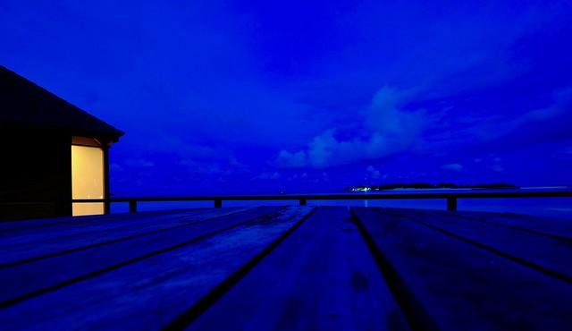 Blue nights of Maldives