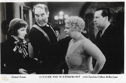 Claudette Colbert, Ernest Torrence and Ben Lyon in I Cover the Waterfront