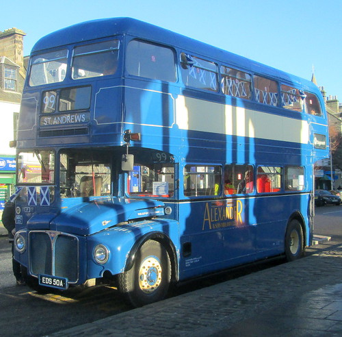 an old bus, vintage bus, St Andrews, Fife