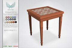 [Ari-Pari] Terracotta Tile Inlay Table