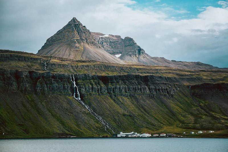 Djupavik town in Iceland