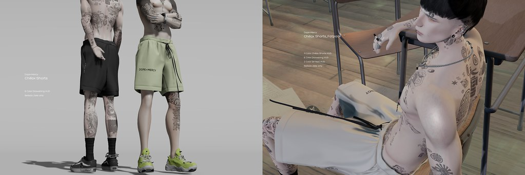 [Dope+Mercy]Chillax Shorts @ ManCave