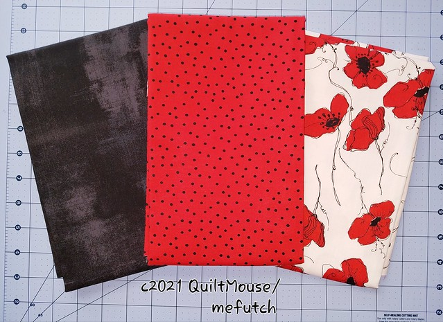 2021-03-15 3 Yard Bundle for a model for Fabric Cafe - Poppies