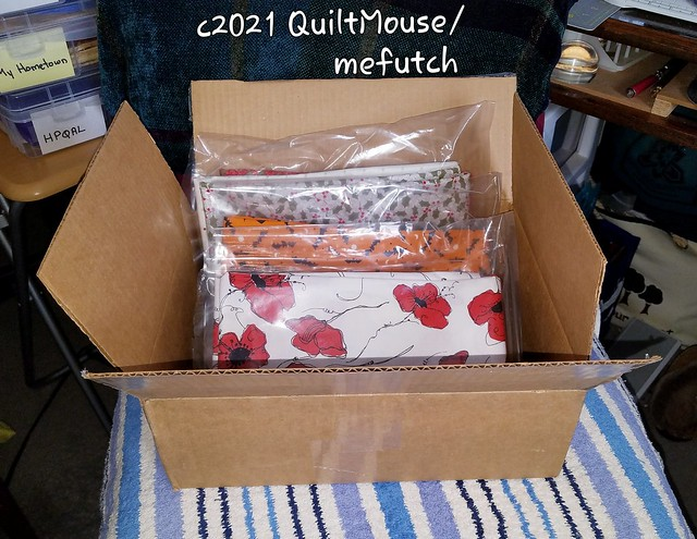 2021-03-15 FedEx package of Fabric from Fabric Cafe