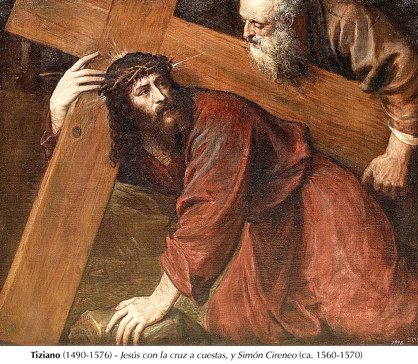 Tiziano- Jesús con la cruz a cuestas