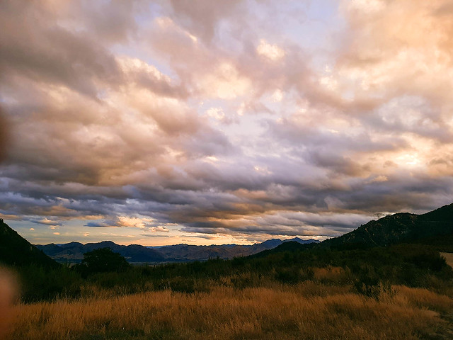 Sunset over Hanmer