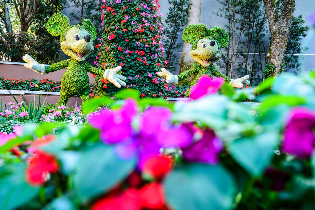 Mickey and Minnie topiary flower & garden Epcot