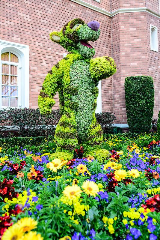 Tigger topiary flower & garden Epcot