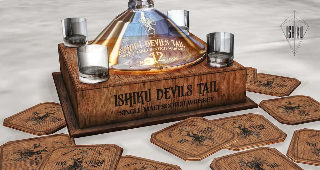 ISHIKU DEVILS TAIL SCOTCH WHISKEY SET