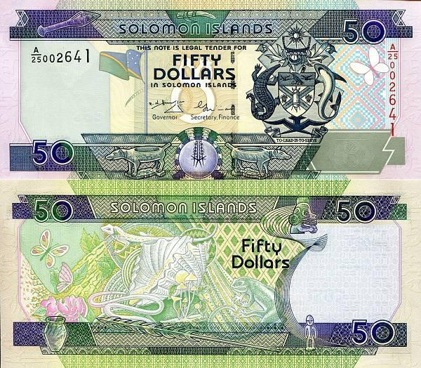 50 Dolárov Šalamúnové ostrovy 2001, P24 UNC