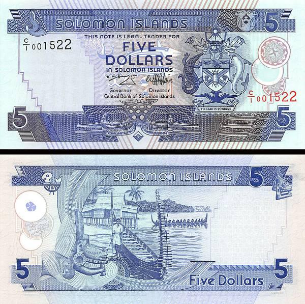 5 Dolárov Šalamúnove ostrovy 1997 P19