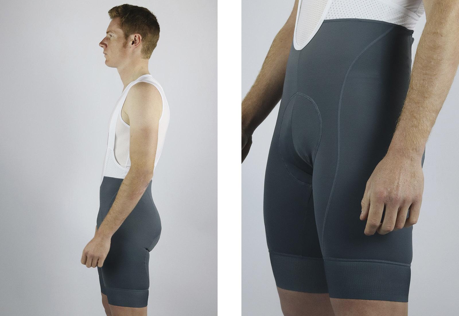 Men's Endurance Grey Bib Short