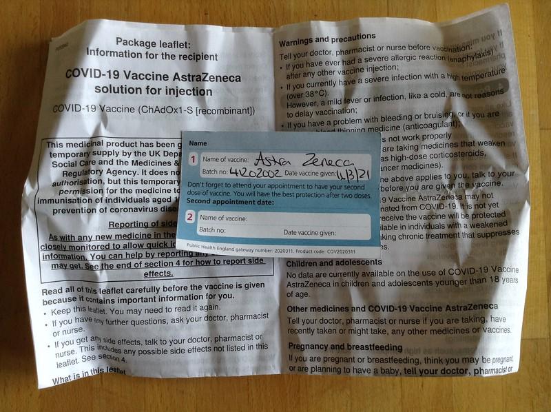 AstraZeneca COVID-19 Vaccination Docs