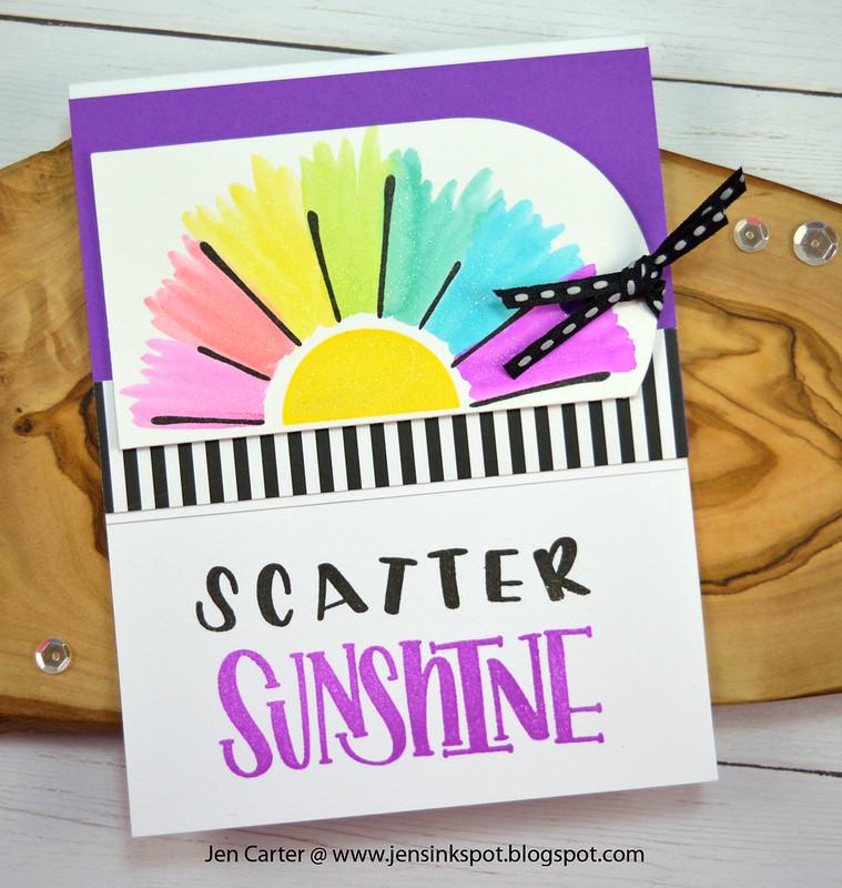 Scatter Sunshine Rainbow Sun  Black Tie Jen Carter