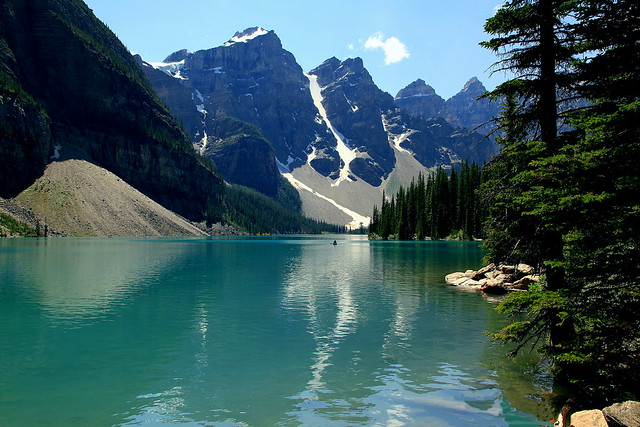 Tranquility of a mountain lake