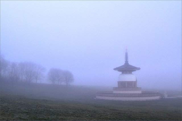 Peace Pagoda in the Mist - Explored