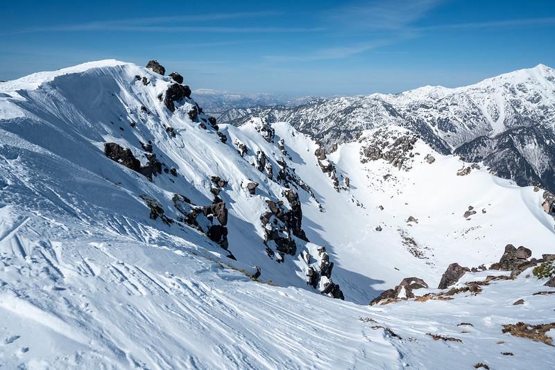 焼岳の南峰