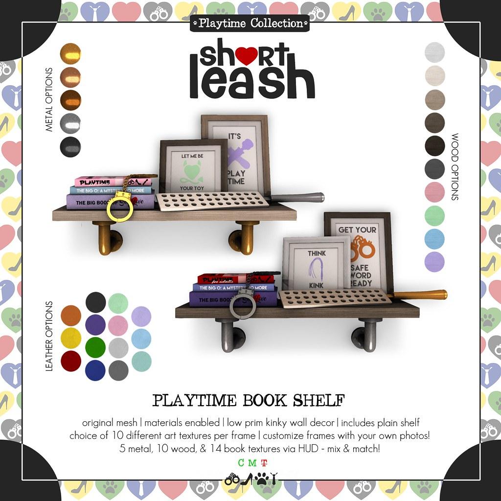 .:Short Leash:. Playtime Book Shelf