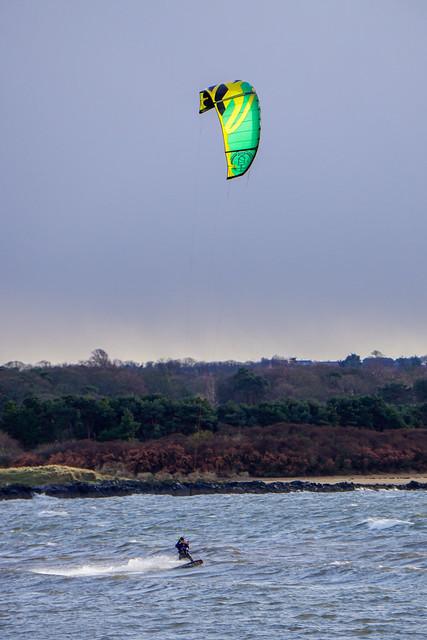 Kitsurfer in Prestonpans