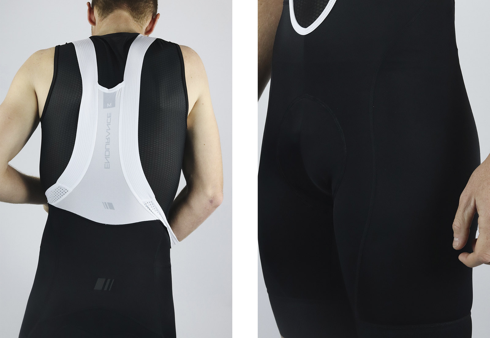 Men's Endurance Black Bib Short