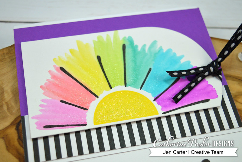 Scatter Sunshine Rainbow Sun  Black Tie Jen Carter Closeup Glitter