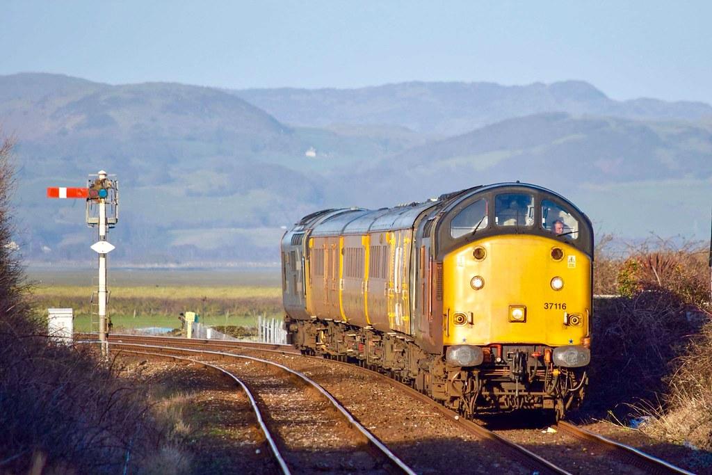 37116 TnT 37025. Millom. Derby RTC-Carlisle WS.. Tues 16th March 2021 by Stu Sharp