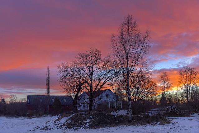 Sunrise in Hølen, Norway