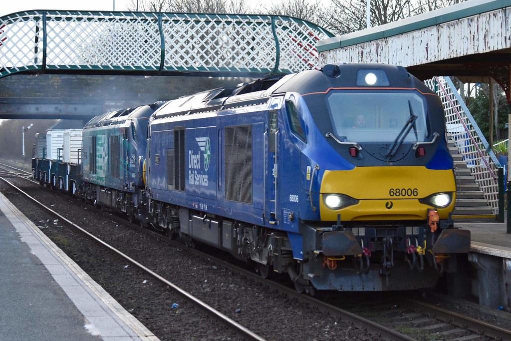 68006/016 Millom. 6K73 Sellafield-Crewe. Tues 16th March 2021 by Stu Sharp