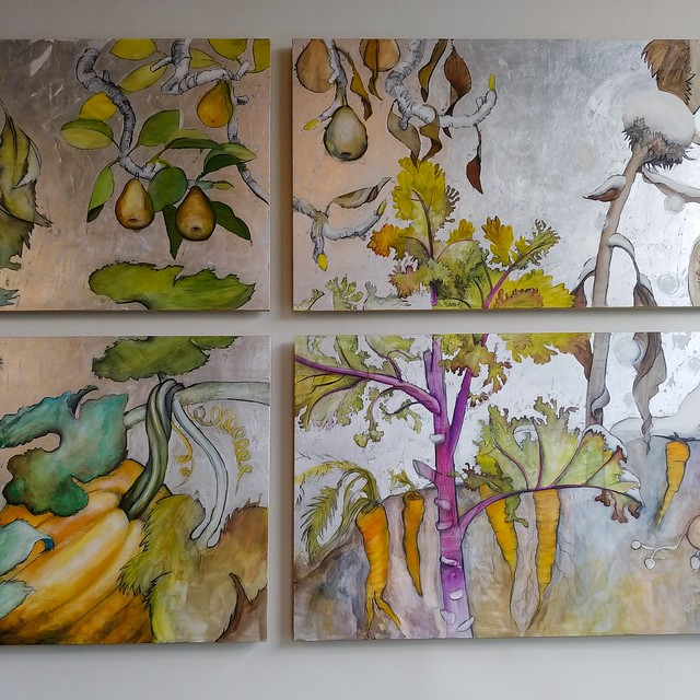 #metal #mural #garden #bakery #seattle #carrot #pumpkin #pear #chard #🍐 #