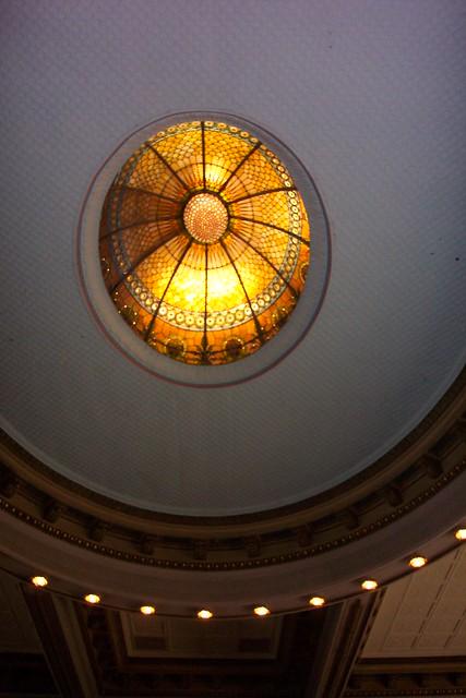 Van Wert Ohio ~ Van Wert Courthouse ~ Sky light  Court Room  ~  Downtown Historic  District