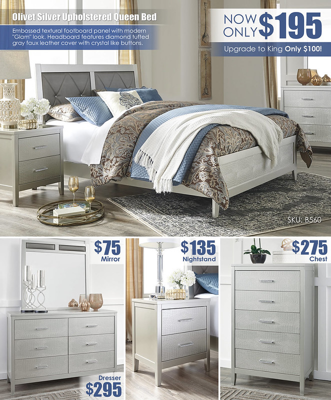 Olivet Silver Upholstered Queen Bed Layout_B560_2021