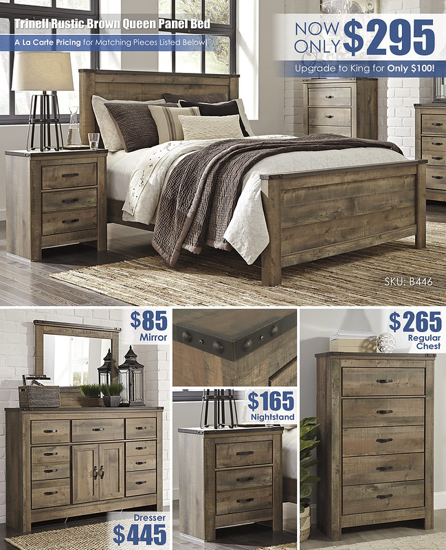 Trinell Rustic Brown Queen Panel Bed_B446_Layout_2021