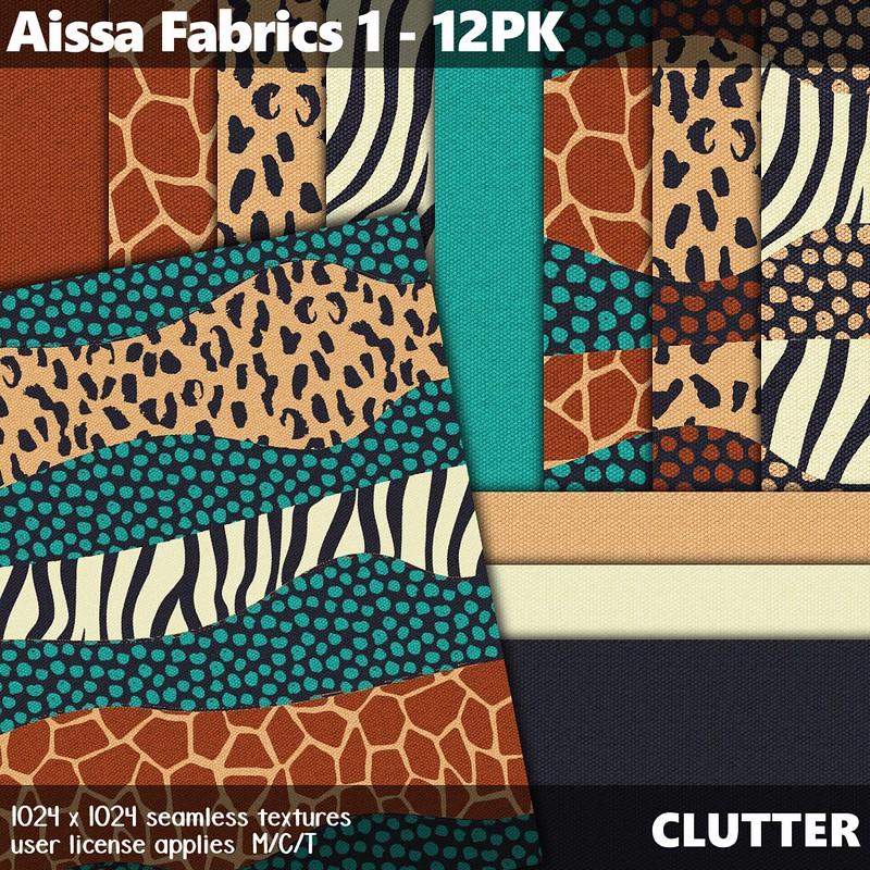 Clutter - Aissa Fabrics 1 - 12PK - ad