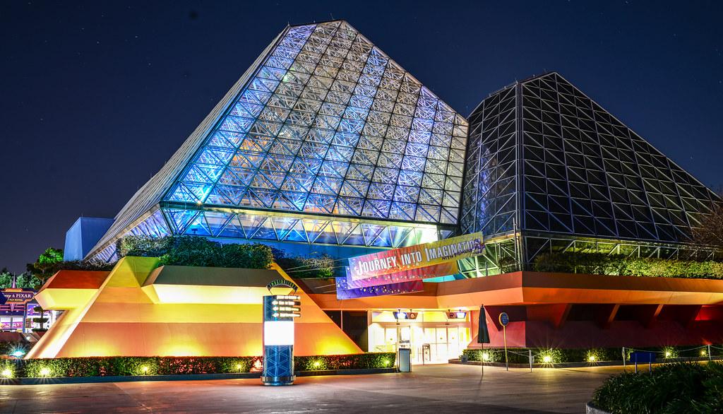 Imagination Pavilion night Epcot