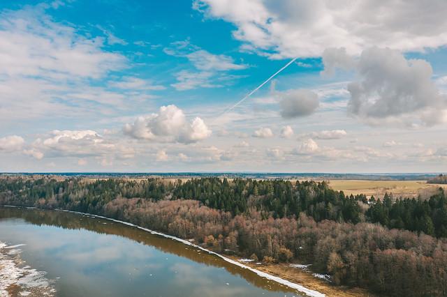 Nemunas river | Birštonas, Lithuania aerial