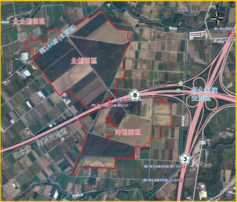 新市產業園區設置計畫位於台糖農地。圖片來源:環評書件