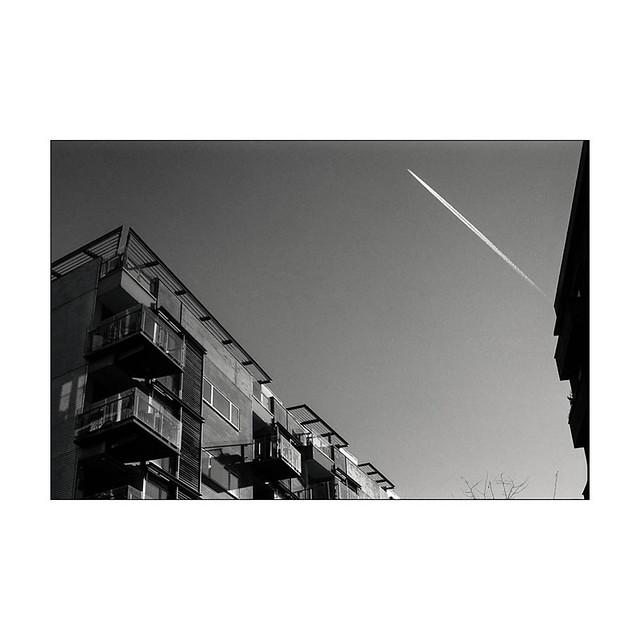 Aeroplane on a sunny afternoon