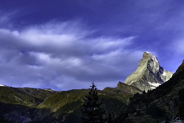 Mountain view with Matterhorn - Zermatt - Wallis - Switzerland