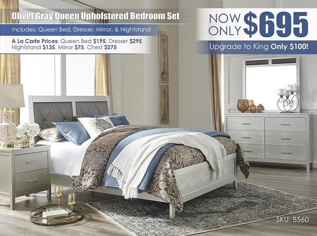 Olivet Gray Bedroom Set Special_B560-31-36-81-96-92-Q324_2021