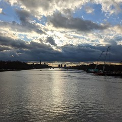 I walked over Chelsea Bridge again