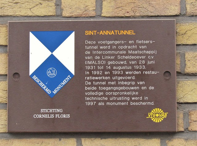 Wall Plaque Sint Anna Tunnel