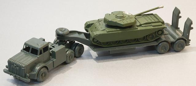 Airfix Toys Thornycroft Antar with Britains Lilliput Centurion