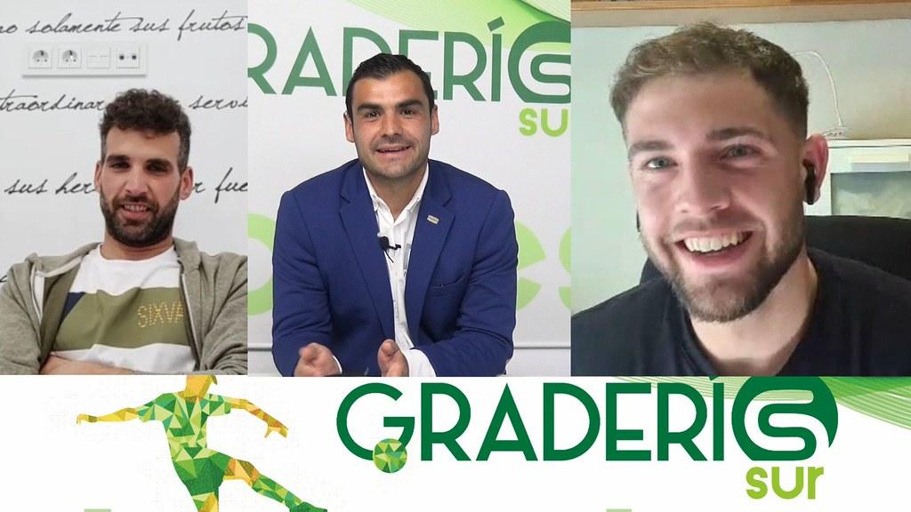 Graderio Sur: Rafa Moreno, Nico Lara y Fernando Fernández