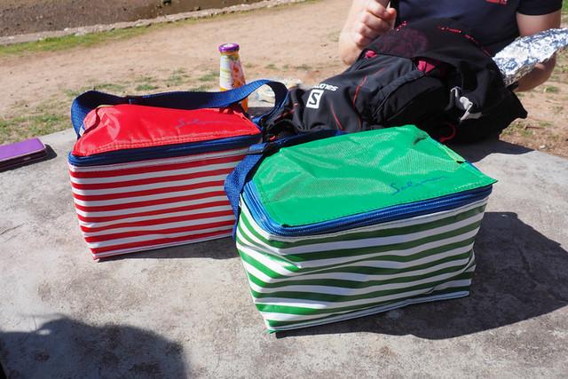 Picnic bags, Arrabida, Portugal