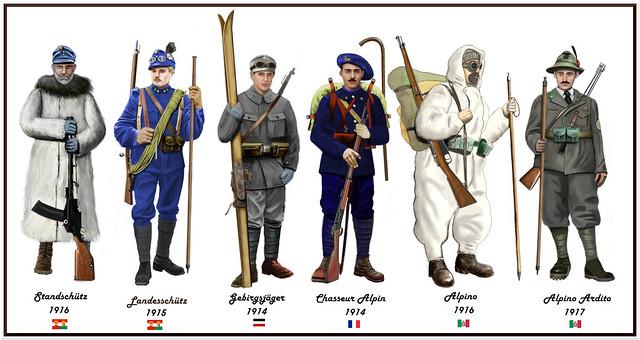 WW1 alpine troops