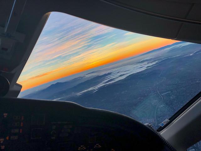 Turning toward the sunset