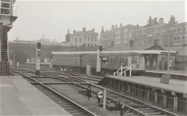 DMU at King's Cross (York Road) in 1968