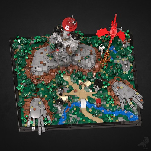 Fantasy Diorama - Aerial view