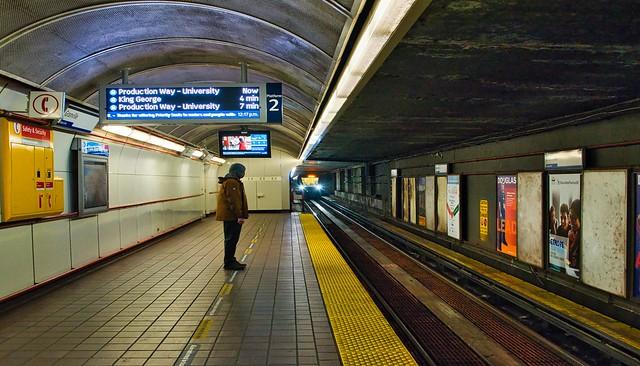 2021 - Vancouver - Granville Skytrain Station Eastbound